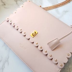🍒NWT🍒 TED BAKER BABY PINK CONVRTIBLE LEATHER BAG